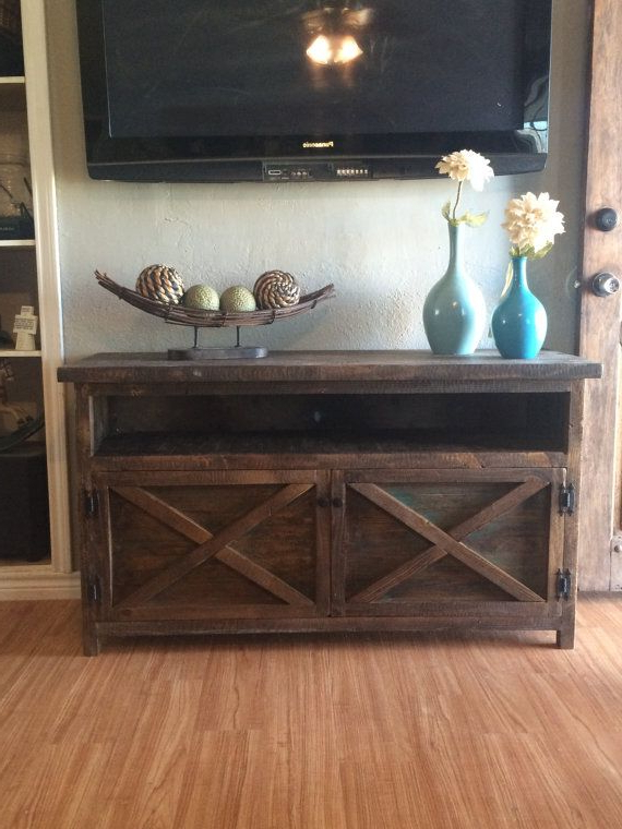 House Inside Rustic Wood Tv Cabinets (Gallery 8 of 20)