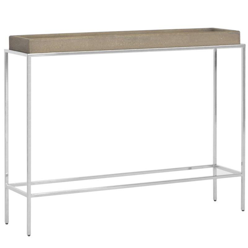 Hw Home Shagreen Console Table Regarding Most Recently Released Faux Shagreen Console Tables (View 11 of 20)