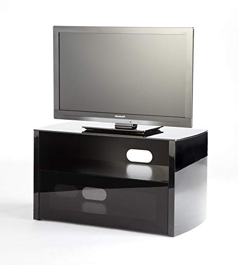 "Iconic Acacia 800 Black Cabinet Tv Stand For Up To 37"" Screens Intended For Popular Iconic Tv Stands (Gallery 5 of 20)"