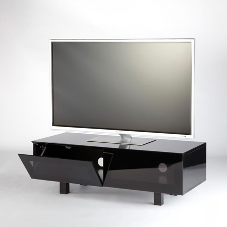 Iconic Obelisk 1100Blk, Obelisk Range Modern Contemporary Tv Cabinet Regarding Popular Contemporary Tv Cabinets For Flat Screens (View 11 of 20)