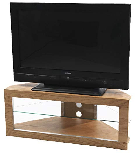Iconic Tv Stands With Famous Iconic Lindi Tx7000 Oak Corner Tv Stand For Screens Up To 50 Inch (View 8 of 20)