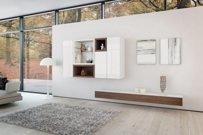 Ideas: Modern Living Room Storage Design With Nice Wall Mounted Tv Throughout Trendy White Wall Mounted Tv Stands (View 6 of 20)