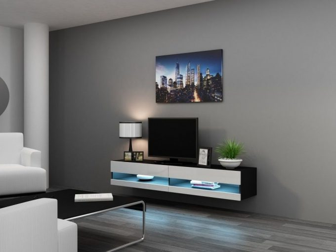 Ideas: Modern Living Room Storage Design With Nice Wall Mounted Tv Within Newest Modern Wall Mount Tv Stands (View 8 of 20)