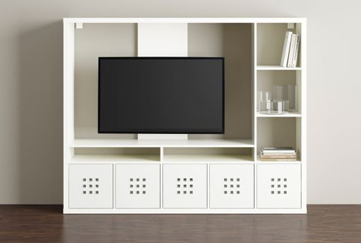 Ikea White Gloss Tv Units In Recent Lappland Tv Storage Unit White 183 X 39 X 147 Cm In  (View 10 of 20)