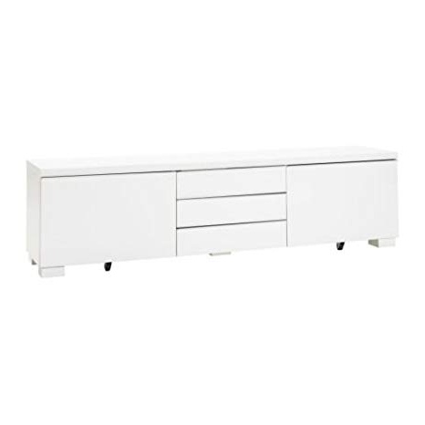 Ikea White Gloss Tv Units Regarding Favorite Amazon: Ikea Tv Unit, High Gloss White 826. (View 12 of 20)
