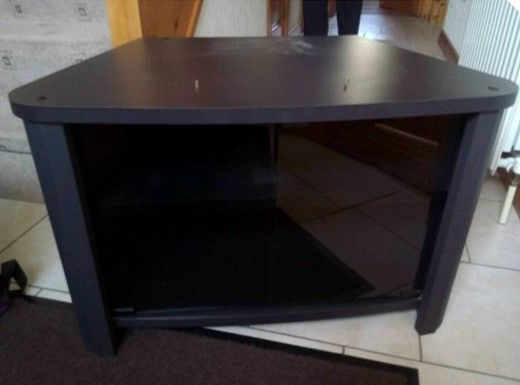 In Intended For Latest Black Tv Cabinets With Doors (View 14 of 20)
