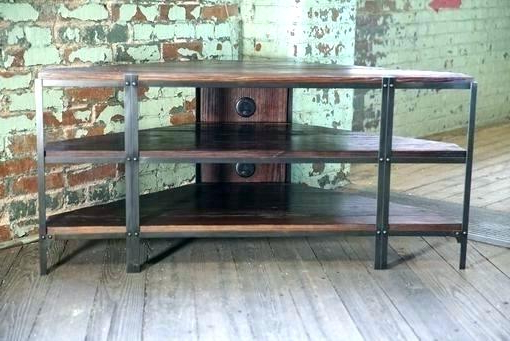 Industrial Corner Tv Stand S Look – Oceanlabs Intended For Fashionable Industrial Corner Tv Stands (Gallery 15 of 20)