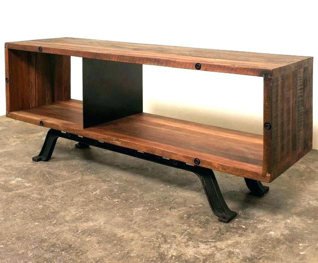Industrial Corner Tv Stands Inside Most Current Tv Stands Industrial Industrial Metal And Wood Stand With Best (Gallery 14 of 20)