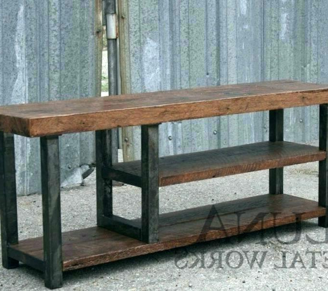 Industrial Metal Tv Stands Inside Well Known Wood And Metal Tv Stand Wood And Metal Stand Entertainment Center (View 14 of 20)