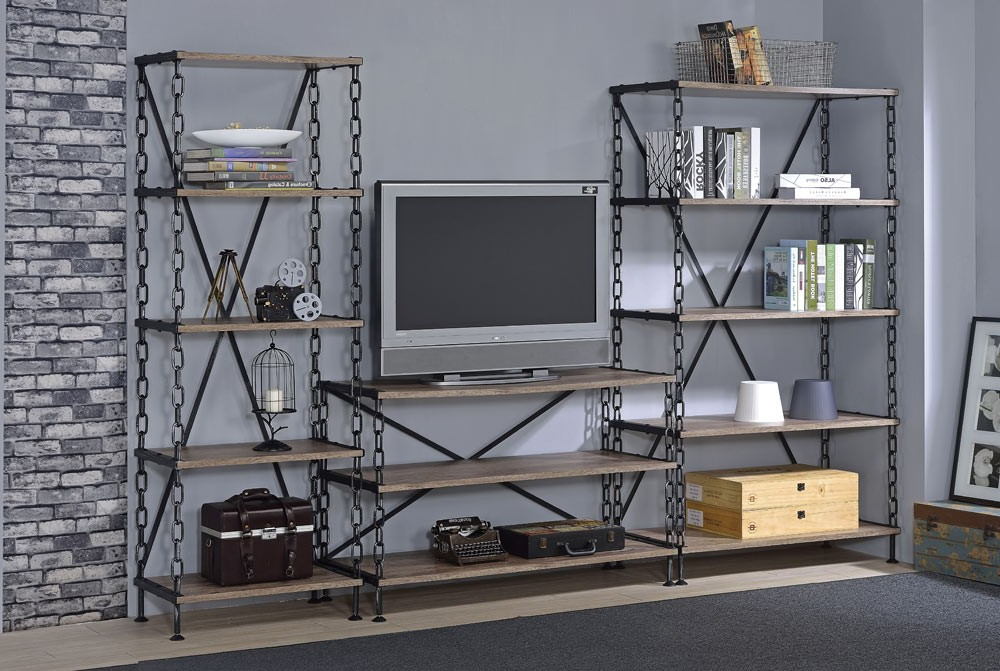 Industrial Style Tv Stands Pertaining To Popular Pablo Industrial Style Tv Stand (Gallery 19 of 20)