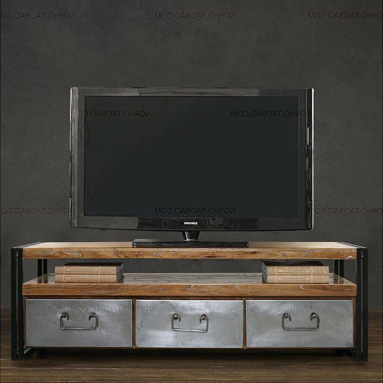 Industrial Tv Cabinets Pertaining To Most Current Industrial Tv Cabinets Furniture Media Stand Unit Look – Naily (Gallery 20 of 20)