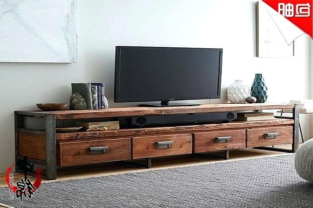 Industrial Tv Cabinets With Most Recently Released Industrial Tv Cabinets Style Loft Living Room Retro To Do The Old (View 13 of 20)