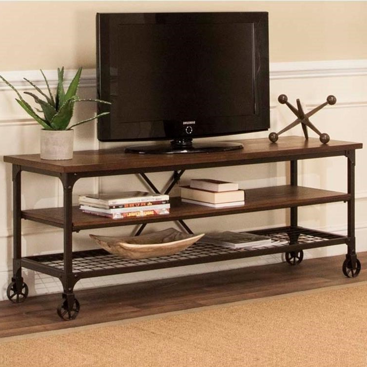 Industrial Tv Stands For Latest Industrial Tv Stand With Open Shelvescramco, Inc (Gallery 3 of 20)