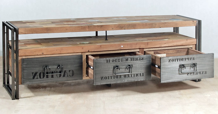 Industrial Tv Stands Inside Recent Divine Exports (View 9 of 20)