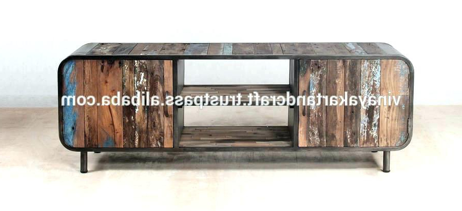 Industrial Tv Stands Regarding Trendy Tv Stands Industrial Industrial Metal And Wood Stand With Best (View 11 of 20)