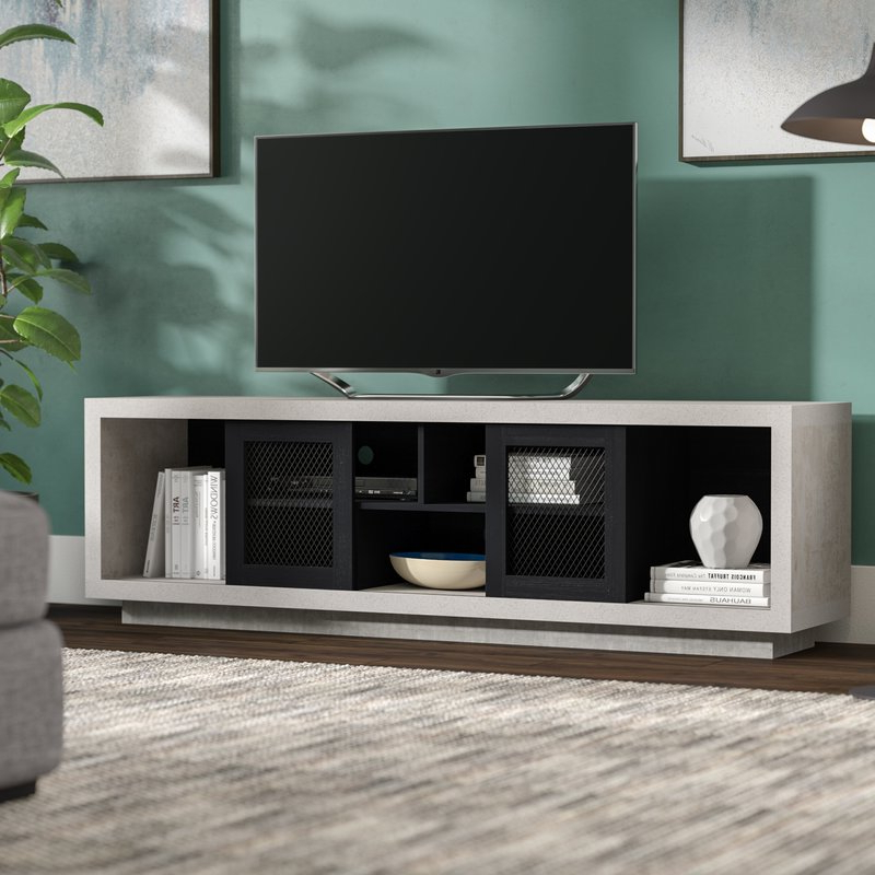 Industrial Tv Stands Within Most Up To Date Brayden Studio Cioffi Industrial Tv Stand For Tvs Up To 70 (Gallery 8 of 20)