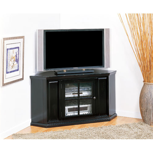 Innovative Tv Stands With Cabinet Doors Parota Rustic 70 Tv Stand W Throughout Best And Newest Corner Tv Unit With Glass Doors (View 13 of 20)