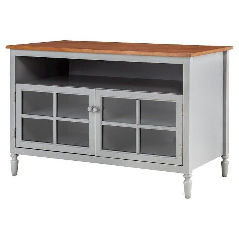 Isabella Glass Door With Open Shelf Tv Stand $239 At Target (Gallery 16 of 20)