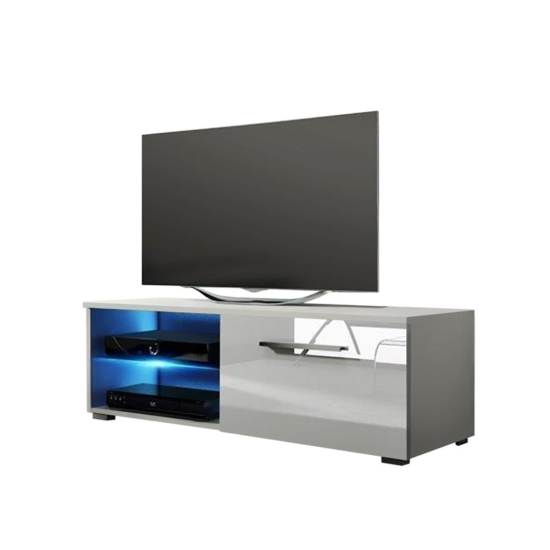Jax White High Gloss Tv Stand 100cm Intended For Most Up To Date Tv Unit 100cm (Gallery 9 of 20)