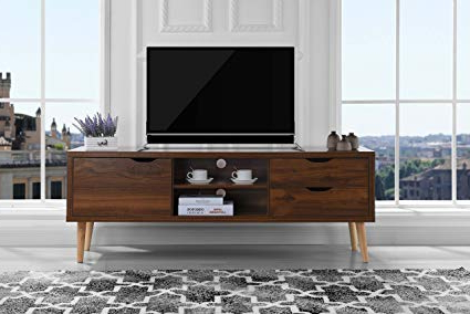 Jaxon 71 Inch Tv Stands Intended For Latest Amazon: Sofamania Mid Century Style Tv Stand, Living Room (Gallery 8 of 17)