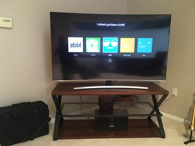 "Jaxon 71 Inch Tv Stands Throughout 2018 Jaxon 3 In 1 Cognac Tv Stand For Tvs Up To 70"" – Walmart (View 9 of 17)"