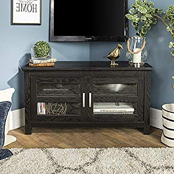 Jaxon 76 Inch Plasma Console Tables Intended For Most Current Amazon: Premier Large Black Flat Panel Plasma / Lcd Tv Console (View 10 of 20)
