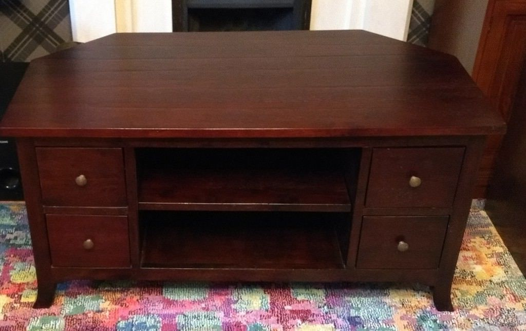 John Lewis Mahogany Finish Dark Wood Corner Tv Stand Cabinet (Gallery 8 of 20)