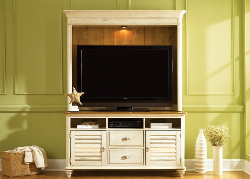 Kai 63 Inch Tv Stands Intended For Well Known Ocean Isle 63 Inch Tv Stand In Bisque With Natural Pine Finish (View 7 of 20)