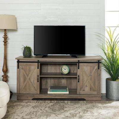 Kenzie 60 Inch Open Display Tv Stands Intended For 2018 Gray – Tv Stands – Living Room Furniture – The Home Depot (View 11 of 20)