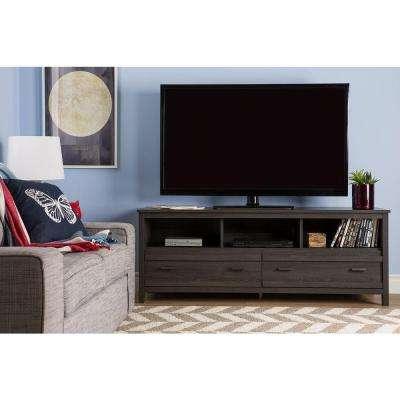 Kenzie 60 Inch Open Display Tv Stands Regarding Popular Gray – Tv Stands – Living Room Furniture – The Home Depot (Gallery 7 of 20)