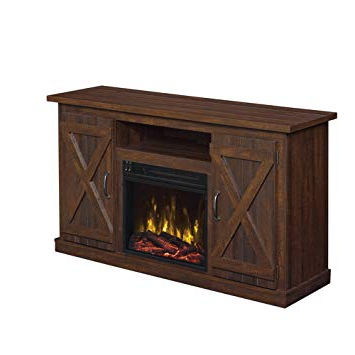 Kilian Grey 60 Inch Tv Stands Within 2017 Amazon: Industrial Tv Stand With Fireplace – Antique Rustic Look (View 11 of 20)