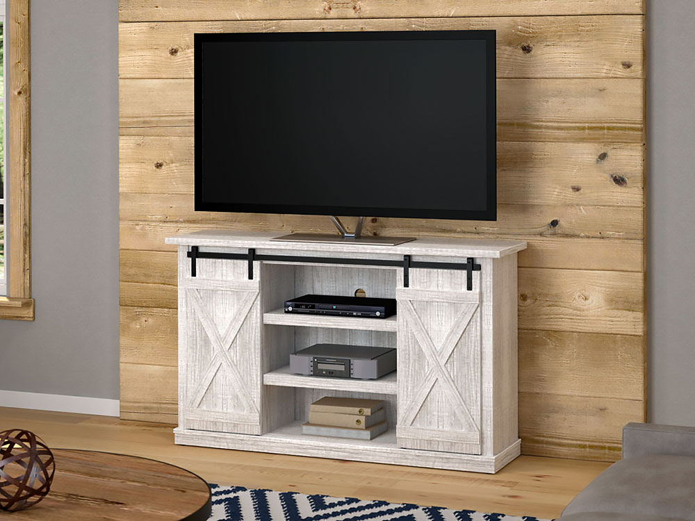Killian Media Console In Sargent Oak (Cabinet Only) (Gallery 3 of 20)