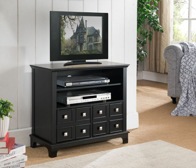 Kings Brand Furniture Black Finish Wood Storage Tv Stand With Doors Inside Well Known Storage Tv Stands (View 7 of 20)