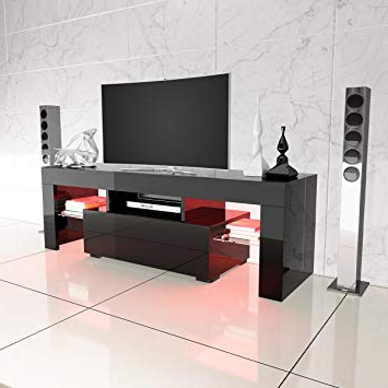 Large Black Tv Unit With Regard To Newest Panana Modern Designs Living Room Furniture Tv Stand: Amazon.co (View 11 of 20)