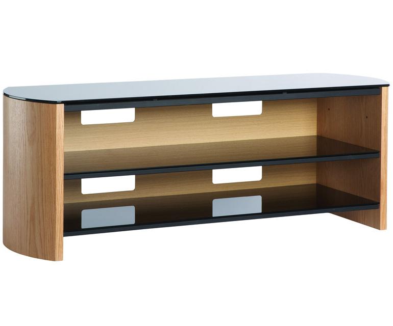 Large Oak Tv Stands For Recent Alphason Finewoods Fw1350 Light Oak Tv Stand – Alphason (Gallery 18 of 20)