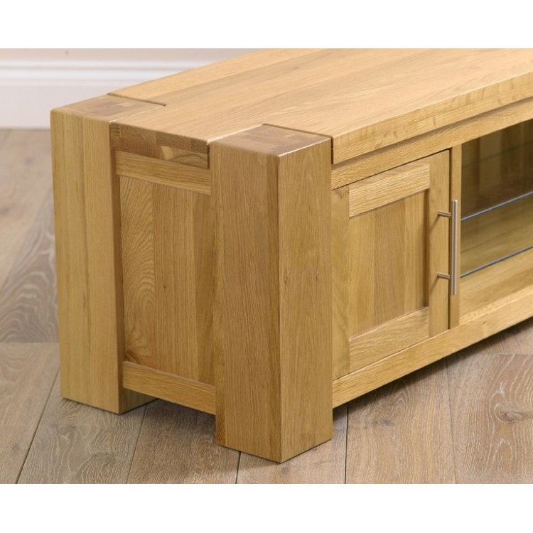 Large Oak Tv Stands In Famous Buy Tampa Solid Oak Tv Stand From Oak Furniture House (View 8 of 20)