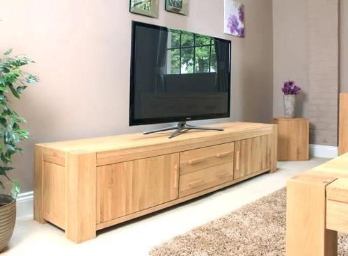 Large Oak Tv Stands Inside Most Current Wide Oak Tv Cabinet – Mobaland (Gallery 9 of 20)