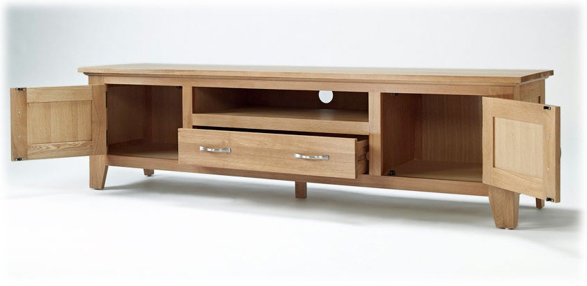 Large Oak Tv Stands Intended For Newest Lovable Oak Tv Cabinet Buy Sorrento Tv Stand Clemence Richard (Gallery 10 of 20)
