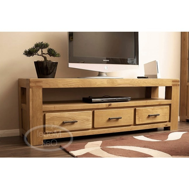 Large Oak Tv Stands Within 2017 Oslo Rustic Oak Large Tv Stand Cabinet (Gallery 2 of 20)