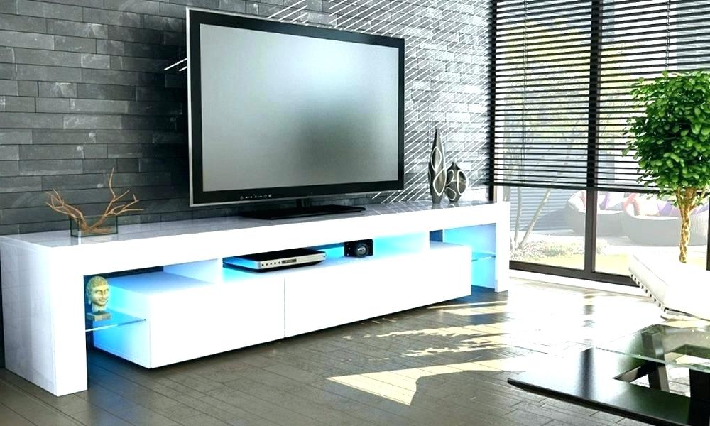 Large White Tv Stands Inside Fashionable Surprising Large White Tv Units Gloss Unit Wall Stands And (Gallery 7 of 20)