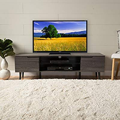Latest Amazon: Christopher Knight Home 299078 Rowan Wood Tv Stand, Grey With Rowan 45 Inch Tv Stands (Gallery 1 of 20)