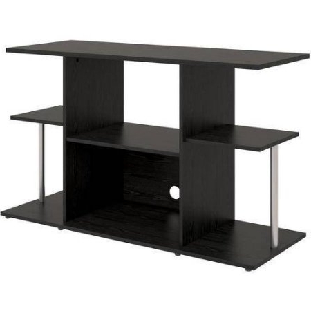 Latest Amazon: Mainstays Unique Entertainment Tv Stand Cabinet Console For Unique Tv Stands For Flat Screens (View 7 of 20)