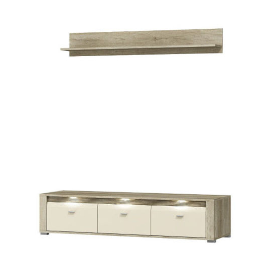 Latest China High Gloss Cream Tv Unit With Wall Hanging Shelf – China Tv Intended For Cream Gloss Tv Stands (Gallery 17 of 20)