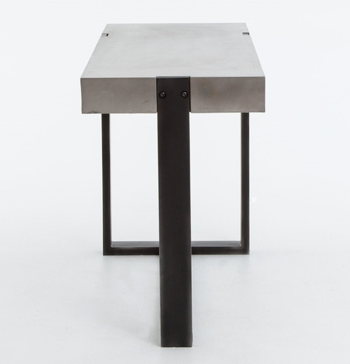 Latest Concrete Parsons Console Table — Terrariumtvshows For Parsons Concrete Top & Dark Steel Base 48x16 Console Tables (Gallery 9 of 20)