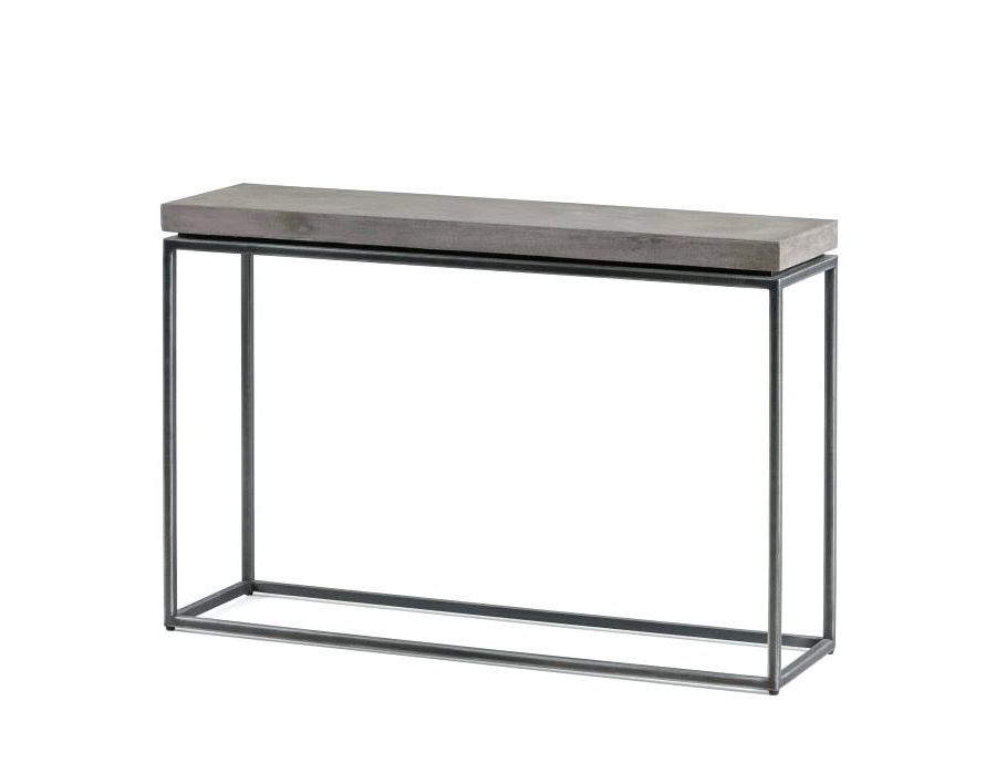 Latest Concrete Parsons Console Table — Terrariumtvshows In Parsons Walnut Top & Brass Base 48X16 Console Tables (View 8 of 20)