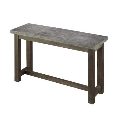 Latest Concrete Top Console Table Exceptional Berkebunasik Com Decorating In Parsons Concrete Top & Brass Base 48X16 Console Tables (View 9 of 20)