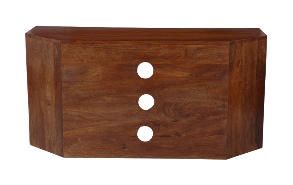 Latest Dakota Dark Mango Wood Corner Tv Unit (45N)  (View 11 of 20)