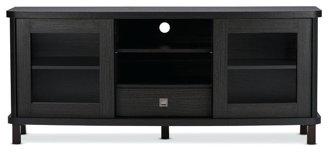 Latest Dark Brown Corner Tv Stands Regarding Decoration: Stunning Variety Of Contemporary Black Stands Inside (View 14 of 20)