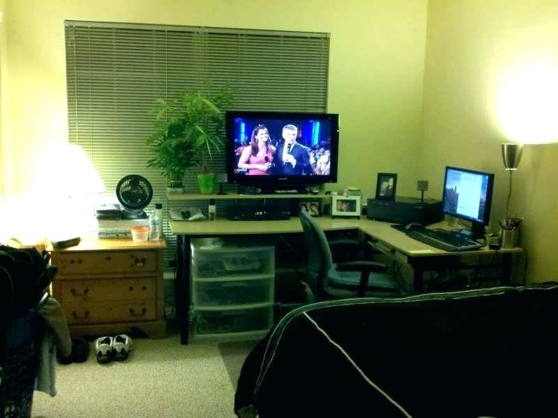 Latest Desk And Tv Stand Combined – Emmylouloublog Within Tv Stands And Computer Desks (Gallery 12 of 20)