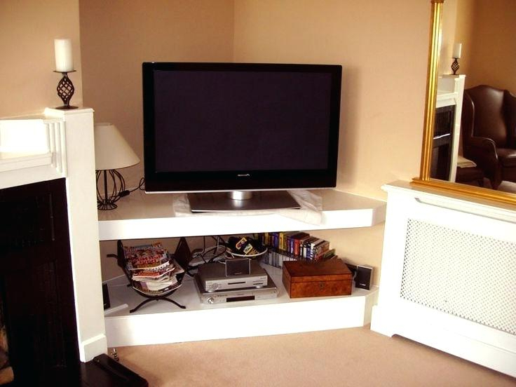 Latest Flat Screen Tv Stands Corner Units For Decoration: Corner Flat Screen Tv Stand (Gallery 11 of 20)